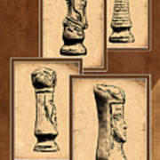 Chess Pieces Poster by Tom Mc Nemar