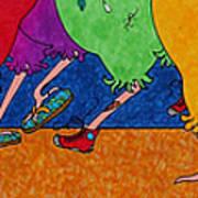 Chicken Walk Poster by Michele Sleight