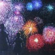 Children On The 4th Of July Poster by Diane Larcheveque