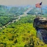 Chimney Rock Nc Poster by Elizabeth Coats