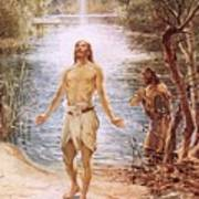 Christ Baptised By John The Baptist Poster by William Brassey Hole