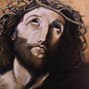 Christ With Crown Of Thorns Poster by Laura Ury