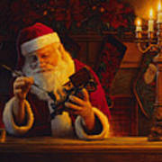 Christmas Eve Touch Up Poster by Greg Olsen