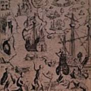 Christopher Colombus Discovering The Islands Of Margarita And Cubagua Where They Found Many Pearls Poster by Spanish School