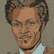 Chuck Berry - Brown-eyed Handsome Man  Poster by Suzanne Gee