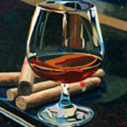 Cigars And Brandy Poster by Christopher Mize
