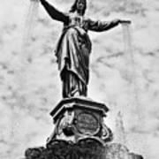 Cincinnati Fountain Tyler Davidson Genius Of Water Statue Poster by Paul Velgos
