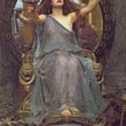 Circe Offering The Cup To Ulysses Poster by John Williams Waterhouse