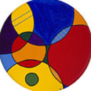 Circles Abstract 1 Poster by Patty Vicknair