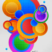 Circles Poster by Anthony Caruso