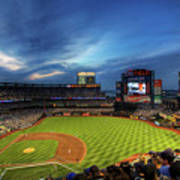 Citi Field Twilight Poster by Shawn Everhart