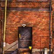 City - Door - The Back Door  Poster by Mike Savad