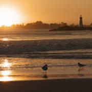 Classic Santa Cruz Sunset Poster by Paul Topp