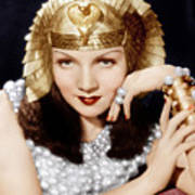 Cleopatra, Claudette Colbert, 1934 Poster by Everett