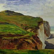 Cliffs Poster by Louis Eugene Gabriel Isabey