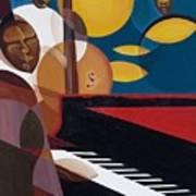 Cobalt Jazz Poster by Kaaria Mucherera