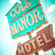 Cole Manor Motel Poster by David Waldo