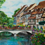 Colmar In Full Bloom Poster by Charlotte Blanchard