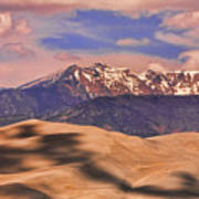 Colorado's Great Sand Dunes Shadow Of The Clouds Poster by James BO  Insogna