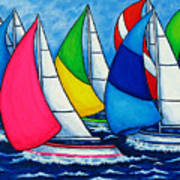 Colourful Regatta Poster by Lisa  Lorenz