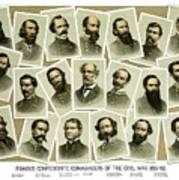 Confederate Commanders Of The Civil War Poster by War Is Hell Store