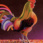 Copper Rooster Poster by Bob Coonts