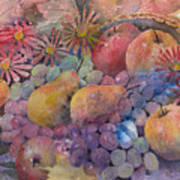 Cornucopia Of Fruit Poster by Arline Wagner