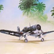 Corsair Preflight Poster by Marc Stewart