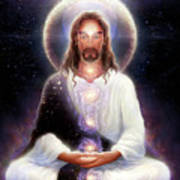 Cosmic Christ Poster by George Atherton