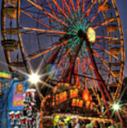 County Fair Ferris Wheel Poster by Corky Willis Atlanta Photography
