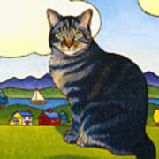 Coupeville Cat Poster by Stacey Neumiller