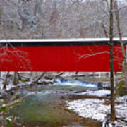 Covered Bridge Along The Wissahickon Creek Poster by Bill Cannon