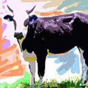 Cow Time Poster by David Lloyd Glover