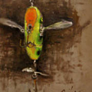 Creeper Muskie Lure Poster by Larry Seiler