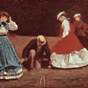 Croquet Scene Poster by Winslow Homer