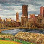 Crowded At Pnc Park Poster by E E Scanlon