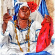 Cuban Character Poster by Dawn Currie