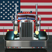 Custom Peterbilt 2 Poster by Stuart Swartz