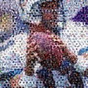 Dan Marino Mosaic Poster by Paul Van Scott