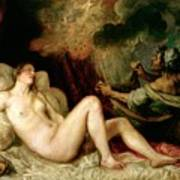 Danae Receiving The Shower Of Gold Poster by Titian