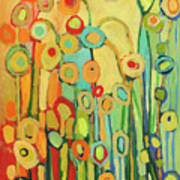 Dance Of The Flower Pods Poster by Jennifer Lommers