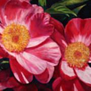 Dance Of The Peonies Poster by Billie Colson