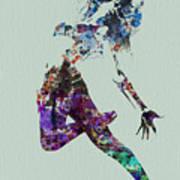 Dancer Watercolor Poster by Naxart Studio