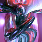 Dancing Hallucination Abstract Poster by Alexander Butler