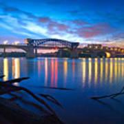 Dawn Along The River Poster by Steven Llorca