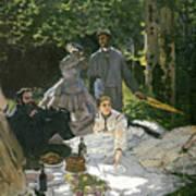 Dejeuner Sur Lherbe Poster by Claude Monet