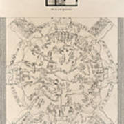 Dendera Zodiac From The Temple Of Hathor Poster by Humanities And Social Sciences Libraryasian And Middle Eastern Division