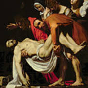 Deposition Poster by Michelangelo Merisi da Caravaggio