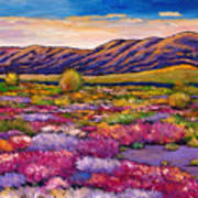 Desert In Bloom Poster by Johnathan Harris