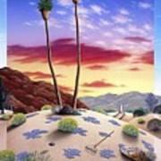Desert Sunrise Poster by Snake Jagger